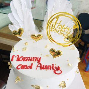 bánh sinh nhật có cánh thiên thần