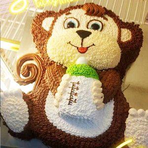 bánh kem hình con khỉ
