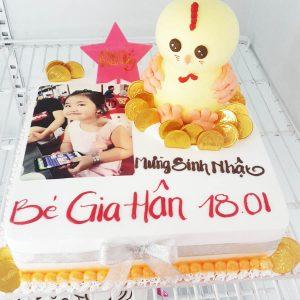 bánh sinh nhật in hình bé gái