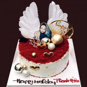 Bánh sinh nhật cánh thiên thần công chúa