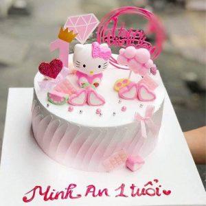 Bánh sinh nhật mèo kitty hồng