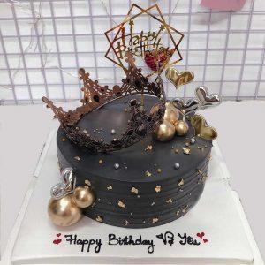 Bánh sinh nhật vương miện tặng vợ