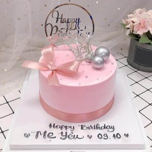 Bánh sinh nhật vương miện trắng