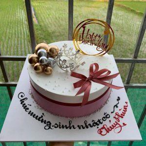 Bánh sinh nhật tặng cô