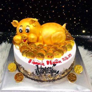 Bánh sinh nhật thôi nôi tuổi hợi