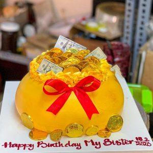 Bánh sinh nhật túi vàng