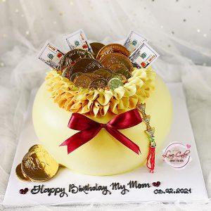 Bánh sinh nhật hủ vàng