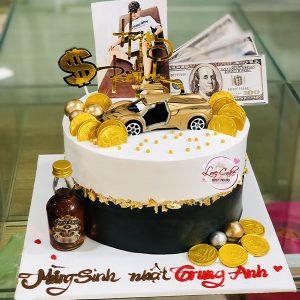 Bánh sinh nhật rượu và siêu xe