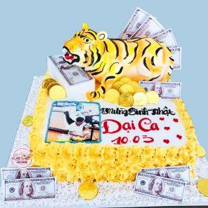 Bánh sinh nhật con cọp dành cho người lớn tuổi