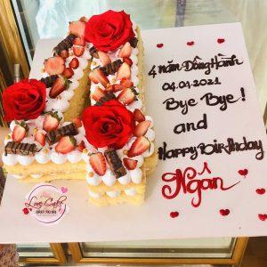 bánh sinh nhật hình chữ số