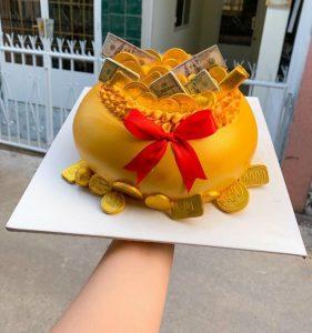 Bánh sinh nhật khai trương
