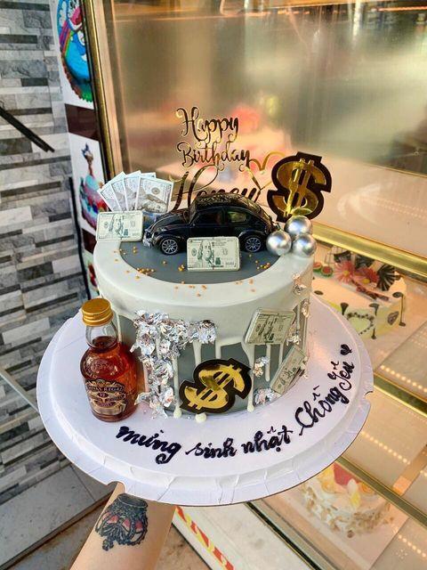Bánh sinh nhật tặng chồng giao tận nơi