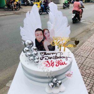Bánh sinh nhật in hình tặng vợ